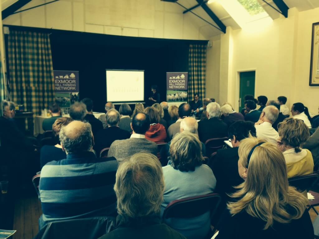 The findings of the study on the state of farming on Exmoor were presented on 2 June 2015