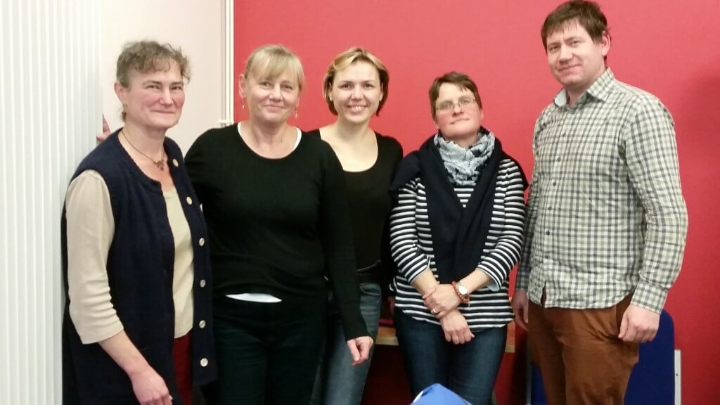 Janet Dwyer and Katarina Kubinakova with visitors from Institute of Agricultural Economics and Information (IAEI) in The Czech Republic
