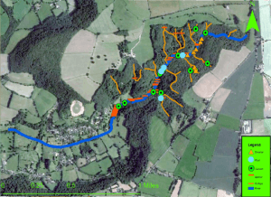 Map detailing the location of the Stroud Valleys project