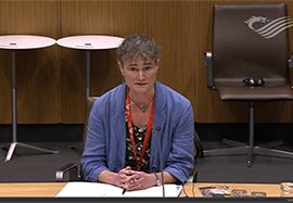 Janet Dwyer at the Climate Change, Environment and Rural Affairs Committee in Wales
