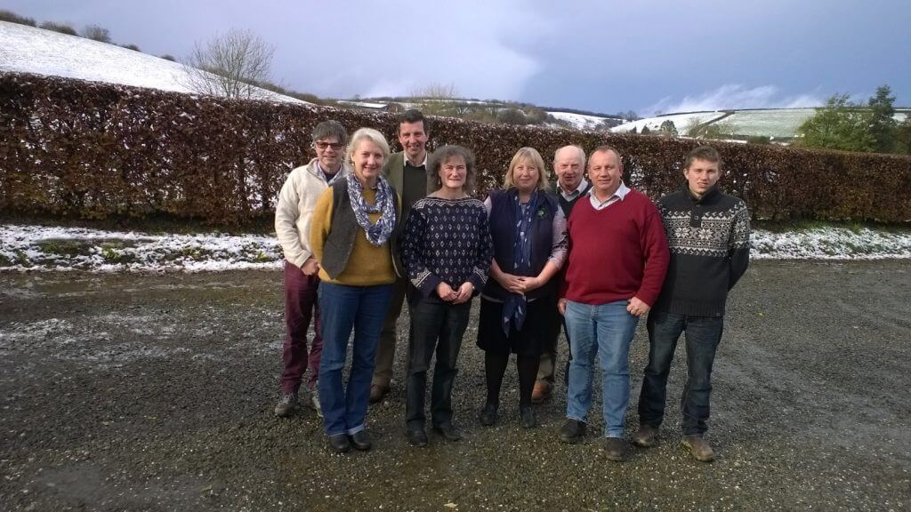 Janet Dwyer (centre) with the Molland Moor Research Team