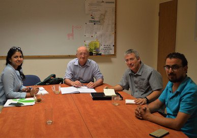 Dilshaad and John in a meeting at the Arava Institute